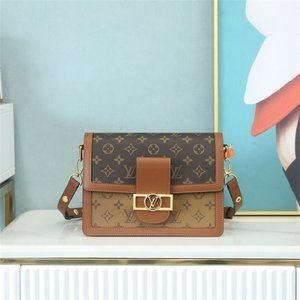 LV Louis Vuitton M44391 DAUPHINE MM Crossbody Bags